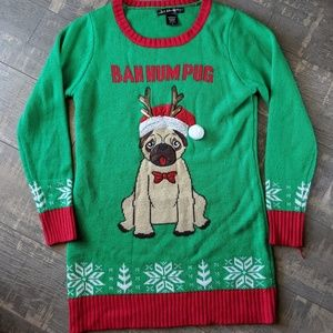 Sweaters - Ugly Christmas Holiday Sweater Dog Pug Puppy